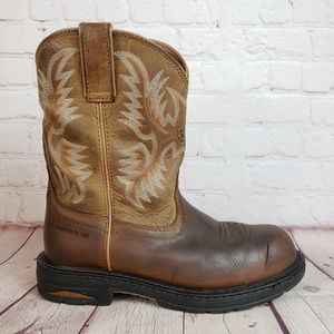 Ariat Leather Cowboy Country Farm Boots